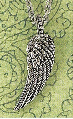 Antique Angel Wing Necklace  -