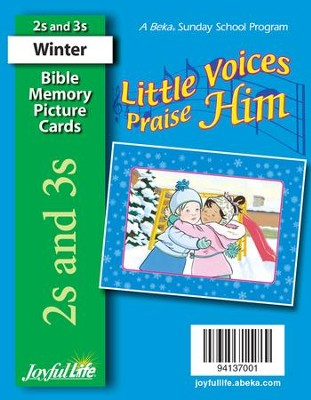 Little Voices Praise Him (ages 2 & 3) Mini Bible Memory Picture Cards  -