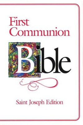St. Joseph  First Communion Bible Flexible Cover (girl)  -