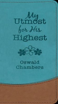 My Utmost Vest Pocket Edition - Turqouise/Tan   -     By: Oswald Chambers