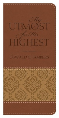 My Utmost Vest Pocket Edition - Brown/Tan  -     By: Oswald Chambers