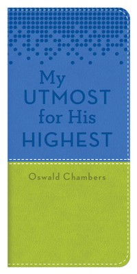 My Utmost Vest Pocket Edition - Blue/Lime Green   -     By: Oswald Chambers