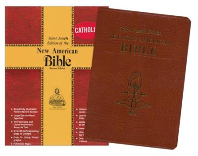 NAB St. Joseph Deluxe Gift Edition, Bonded leather, Brown -large print   -