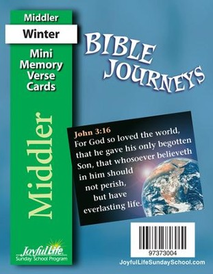 Bible Journeys Middler (Grades 3-4) Mini Memory Verse Cards  -