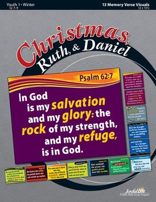 Christmas, Ruth, & Daniel Youth 1 (Grades 7-9) Memory Verse Visuals  -