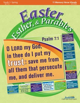 Easter, Esther, & Parables Youth 1 (Grades 7-9) Memory Verse Visuals  -