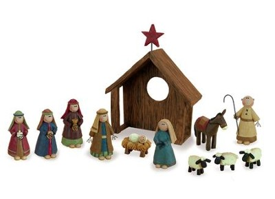 Country Charm Nativity Set 12 Pieces   -     By: Barbara Lloyd