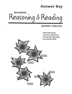 Beginning Reasoning & Reading, Answer Key   -     By: Joanne Carlisle