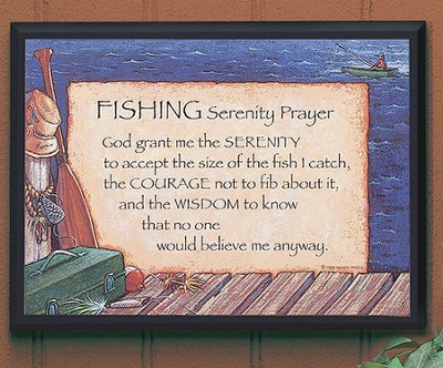 Fishing Serenity Prayer Plaque  -     By: Abbey Press