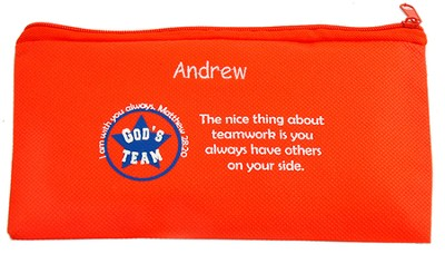 Personalized, Gods Team Zippered Pencil Case   -