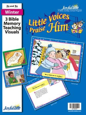 Little Voices Praise Him (ages 2 & 3) Bible Memory Verse Visuals  -