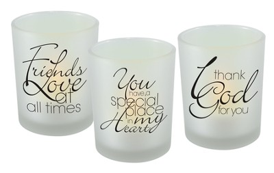 Friends Glass Votives, Set of 3  -