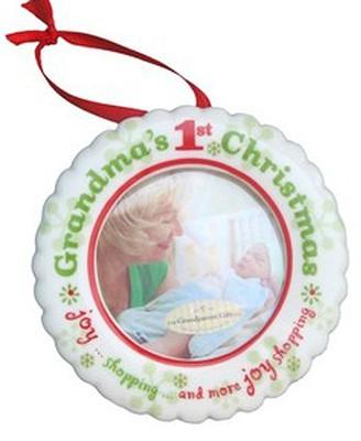 Grandma's 1st Christmas Photo Ornament  -