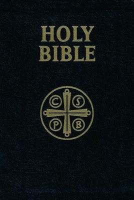 Douay Rheims Bible Leather Black  -