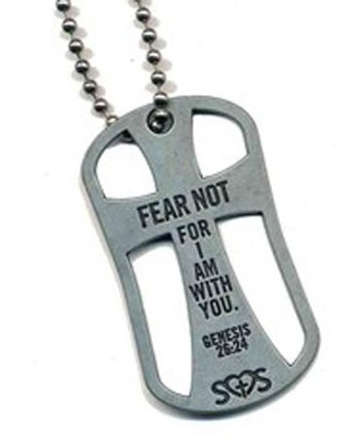 Fear Not Cross Pendant, Genesis 26:24  -