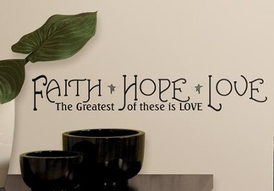 Faith, Hope & Love Peel & Stick Quotable  -