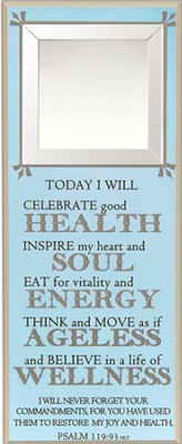 Today I Will Celebrate Good Health Wall Plaque  -