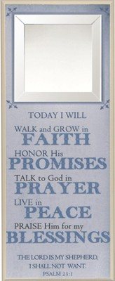 Today I Will Walk and Grow in Faith Wall Plaque  -