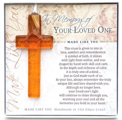In Memory Of Your Loved One Cross Ornament  -