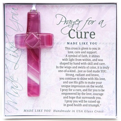 Prayer For A Cure Cross Ornament  -