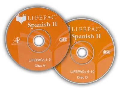 Lifepac Spanish 2 CD for Workbooks 6-10  -