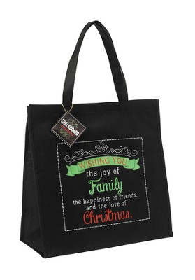 Wishing You Joy, Tote Bag  -     By: Miriam Hahn