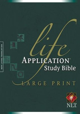 NLT Life Application Study Bible, Large Print Hardcover  -