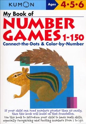 Kumon My Book of Number Games 1-150, Ages 4-6    -