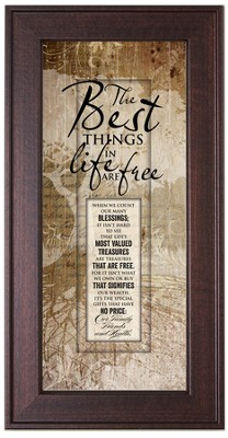The Best Things In Life Framed Art  -