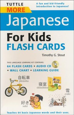 Tuttle More Japanese for Kids Flash Cards Kit  -     By: Timothy G. Stout
