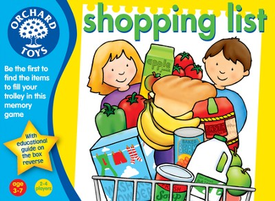 Shopping List Memory Game  -