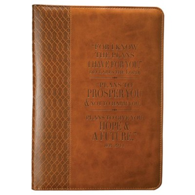 For I Know the Plans, Journal, Brown, Large  -