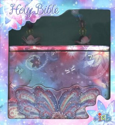 ICB Glitter Wings Compact Bible for Girls   -