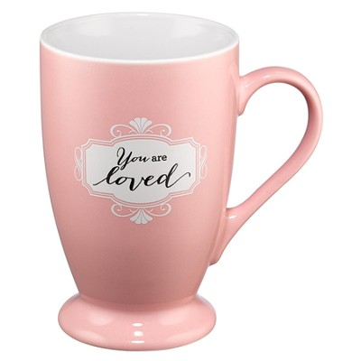 You Are Loved Mug, Pink  -