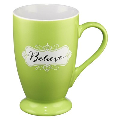 Believe Mug, Green  -