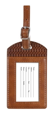 For I Know the Plans, Luggage Tag, Brown, Large  -