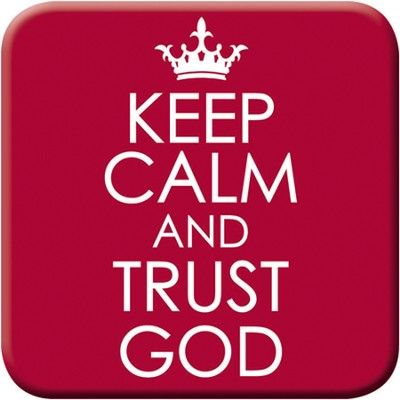 Keep Calm and Trust God Magnet  -