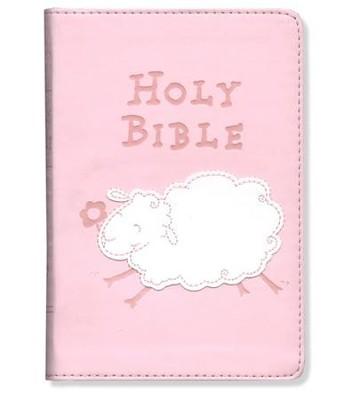 ICB Really Woolly Bible, Pink  - Imperfectly Imprinted Bibles  -
