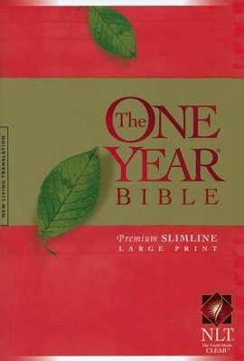 NLT One Year Premium Slimline Large Print Bible: 10th Anniversary - softcover  -     By: Virginia Dixon