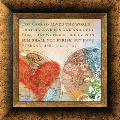 For God So Loved the World Framed Print  -