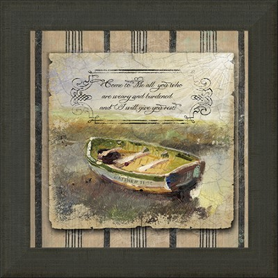 Come To Me All You Who Are Weary Framed Art  -