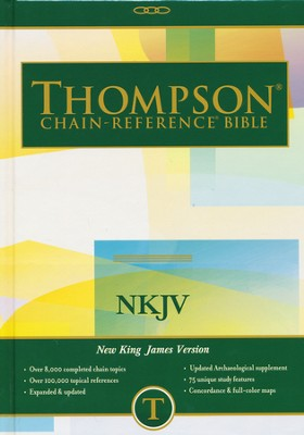 NKJV Thompson Chain-Reference Bible, Hardcover, Thumb Indexed   -