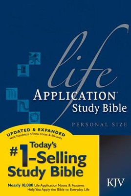 KJV Life Application Bible, personal size, softcover - Imperfectly Imprinted Bibles  -