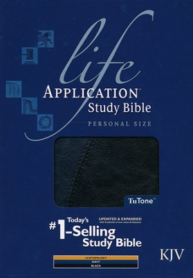 KJV Life Application Study Bible - Personal Size TuTone navy/black  -
