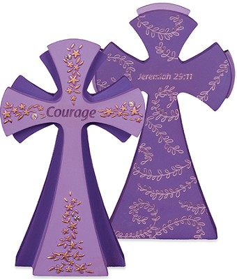 Courage, For I Know the Plans Tabletop Cross  -