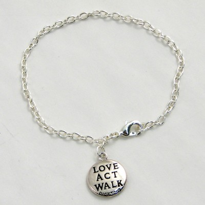 Love, Act, Walk, Micah 6:8, Bracelet  -