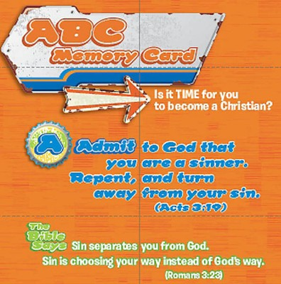 ABC Memory Cards pack of 25 Salvation   -