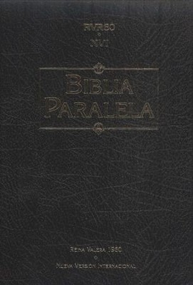 Biblia Paralela RVR60-NVI, Piel Imitada Negra  (RVR60-NVI Parallel Bible, Imit. Leather Black)  -