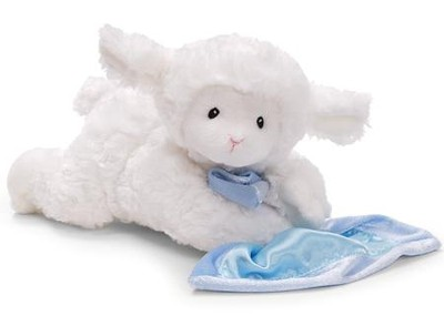 Lamb Prayer Blankie, Blue  -