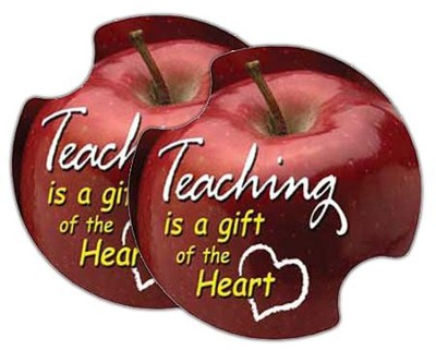 Teaching is a Gift of the Heart, Car Cup Holder Stone  -